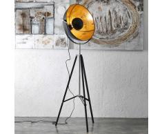 Stehleuchte im Studio Look Schwarz und Goldfarben