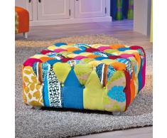 Hocker im Patchwork Design Stoff