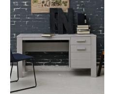 Jugendzimmer Schreibtisch in Grau Kiefer Massivholz