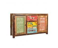 Design Sideboard im Loft Style Bunt