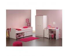 Kinderzimmer Set in Weiß Pink Blau online kaufen (3-teilig)