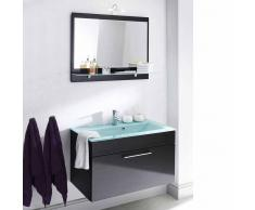 Badmöbel Set mit Spiegel Anthrazit Hochglanz (2-teilig)