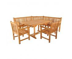 Sitzgruppe mit Eckbank für Garten (4-teilig)