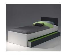 Bett in Weiß Anthrazit Bettkasten