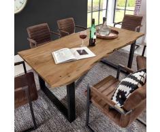 Design Esstisch mit Baumkante Akazie massiv