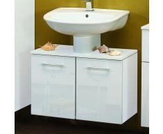 Waschbeckenunterschrank in Weiß 70 cm breit