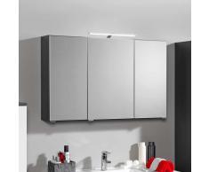 Bad Spiegelschrank mit 3D Effekt Anthrazit