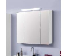 Badezimmer Spiegelschrank in Hochglanz Weiß Beleuchtung