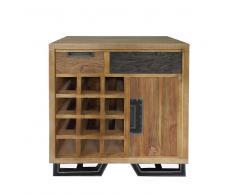 Weinregal aus Holz Loft Design