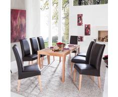 Esszimmergruppe aus Kernbuche Massivholz 8 Stühle (9-teilig)
