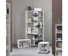 Design Bücherregal in Weiß 90 cm breit