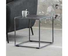 Design Beistelltisch in Anthrazit Stahl