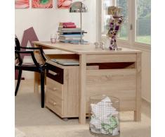 Jugend-Schreibtisch in Eiche Sägerau Rollcontainer