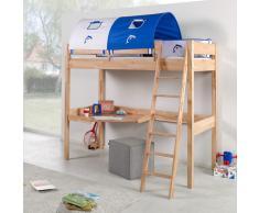 Jungen Spielbett mit Tunnel und Schreibtisch Buche Massivholz