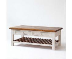 Holz-Wohnzimmertisch im Vintage Look Landhausstil