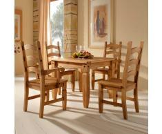 Tischgruppe aus Kiefer Massivholz