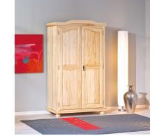 Landhaus Kleiderschrank aus Kiefer Massivholz Natur lackiert