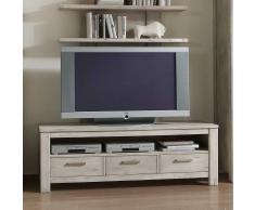 TV Tisch in Grau Fichte Massivholz
