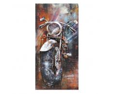 Deko Wandbild aus Metall Motorrad Motiv
