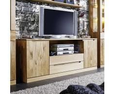 TV Board aus Wildeiche Massivholz 180 cm