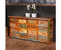 Schubladen Sideboard im Shabby Chic Design Bunt Holz