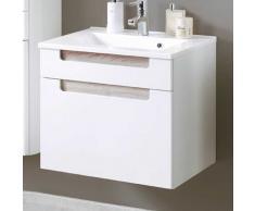 Waschtischunterschrank mit Griffmulden Eiche Dekor