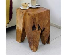 Hocker aus Teak Massivholz ungewöhnlich
