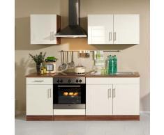 Küchenblock in Creme Nussbaum klein (5-teilig)