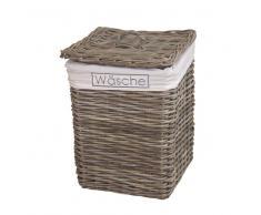 Wäschekorb in Grau Rattan