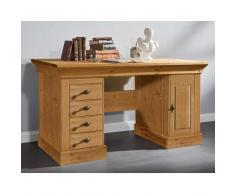 Schreibtisch aus Kiefer Massivholz Landhaus