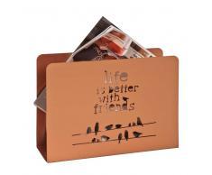 Zeitungskorb in Kupferfarben Metall
