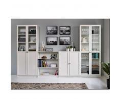 Wohnwand in Weiß 240 cm breit (3-teilig)