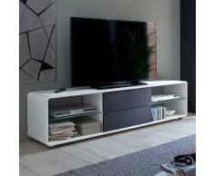 TV Lowboard in Weiß Anthrazit 180 cm breit