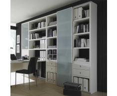Raumteiler mit Schubladen und Türen