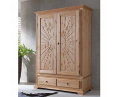Garderobenschrank aus Kiefer Massivholz Fräsungen