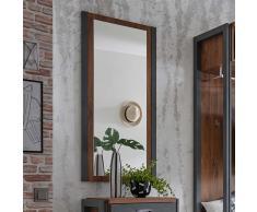 Garderobenspiegel in Eiche dunkel Schiefer Grau modern