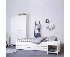 Bett in Weiß Bettkasten