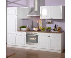 Küchenzeile in Weiß Laundhausstil (6-teilig)