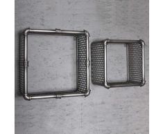 Regalwürfel Set aus Lochblech industry Style (2-teilig)