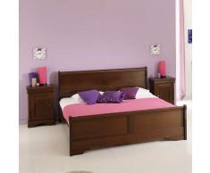Bett mit Nachtkommode Klassisch antikes Design (3-teilig)