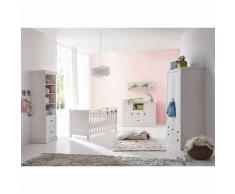 Babyzimmer in Weiß Kiefer massiv (5-teilig)