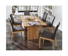 Tischgruppe aus Eiche Dunkelbraun (7-teilig)