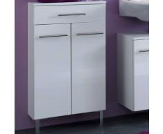 Badezimmer-Unterschrank Zweitürig Weiß Hochglanz