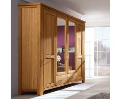 Schlafzimmerschrank aus Wildeiche geölt gewachst Spiegel