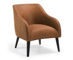 Design Sessel in Rostfarben Buche