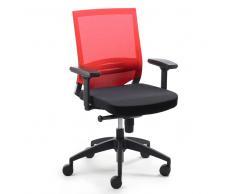 Bürostuhl in Rot-Schwarz Armelehnen