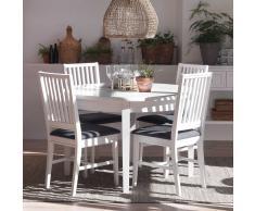 Esszimmertisch in Weiß rund