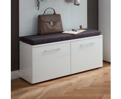 Garderobenbank in Weiß 2 Schubladen