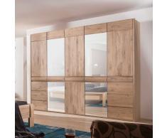 Schlafzimmer Kleiderschrank aus Eiche hell Spiegel