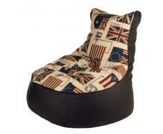 Sitzsack im Flaggen Design Sesselform